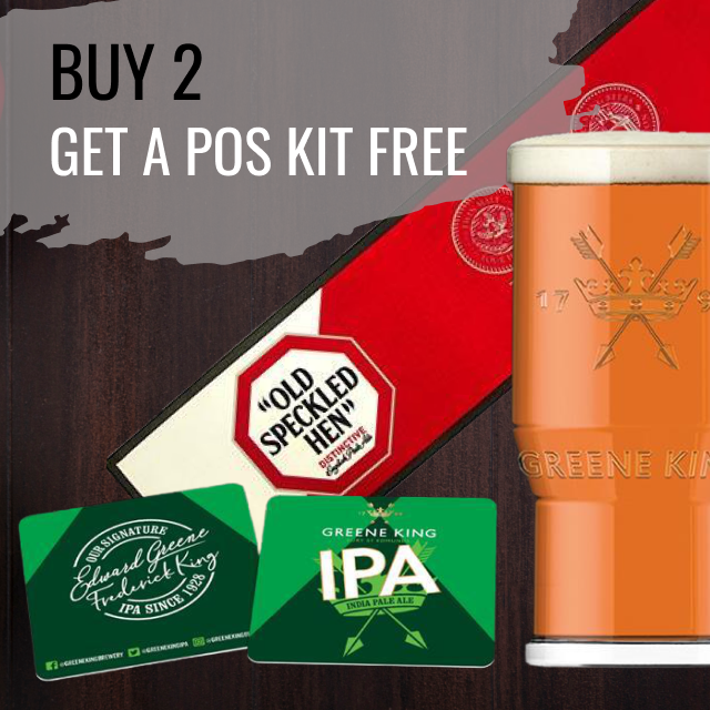 Buy 2 x Greene King ales and get a free POS Kit